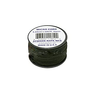 Atwood Rope MFG Schwarz MS01Micro Paracord 1,18mm x 125'