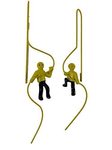 Ohrringe Hänger Ohrhänger Durchzieher Trend 2016 gelb Männchen Mann kletternd 5872