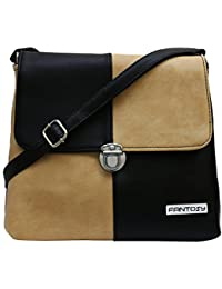 Fantosy Women Black And Beige Zoomy Slingbag Fnsb-163
