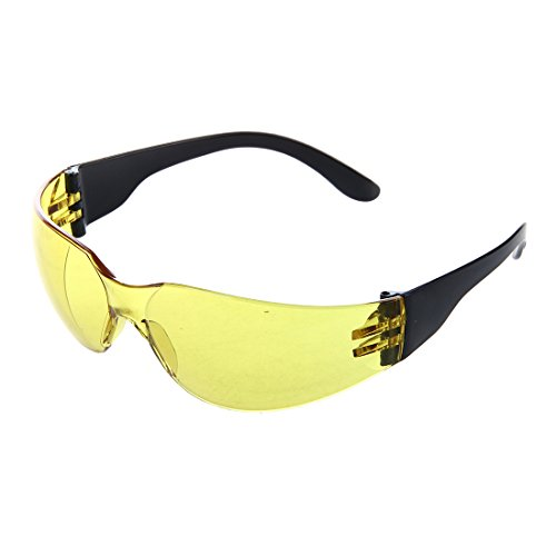 Gaoominy Sport Schutzbrille Augenschutz Brille Laborbrille Kunststoff Gelb Sonnenbrille