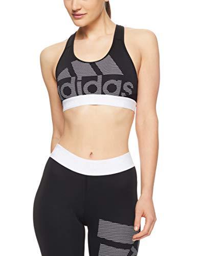adidas Drst Ask SPR LG Sujetador Deportivo, Mujer, Negro Black/White, X-Small