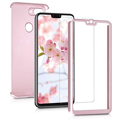 kwmobile Funda para Xiaomi Mi 8 Lite - Carcasa Protectora Completa con Cristal Templado - Cover con Protector de Pantalla Duro