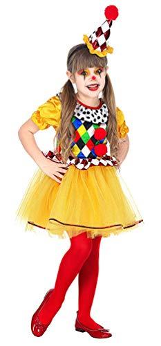Karneval-Klamotten Clown Kostüm Kleinkind Tutu mit Minihut Mädchen-Kostüm Größe 110 (Tutu, Kostüm Clown)