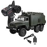 Dilwe 1/16 RC Camion, B-36 2.4G 6WD Camion Militaire RC Modèle Voiture Télécommande RTR Off-Road Jouet Cadeau Enfants