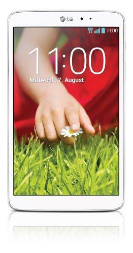 LG G Pad 8.3 Tablet ( 21 cm (8,3 Zoll) Full HD IPS Bildschirm, 1,7GHz Quad-Core Prozessor, 2GB RAM, 16GB interner Speicher, WiFi, Android 4.2.2) weiß