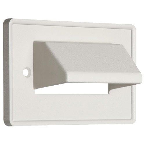 Arlington Industries aaceh1X -aaceh1wh Horizontal Scoop Teller, 1Gang, Weiß Scoop Wall Plate