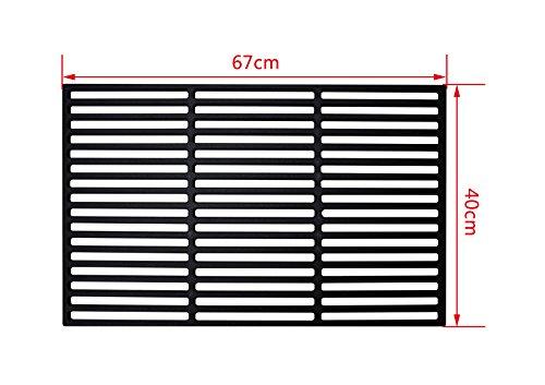 Jeising Grillrost aus Gusseisen massiv Größe 67 x 40 cm