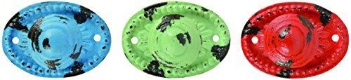 Esschert Design HW13Serie oval Türknauf, farbenreiche Spinner Knob