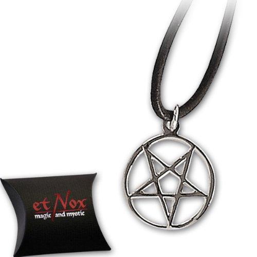 """etNox invertita pentacolo ciondolo amuleto in argento """"protezione amuleto"""" 070,076"""