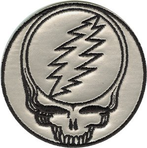 Dead-hemd Grateful (GRATEFUL DANKBAR DEAD Steal Your Face Patch Fleck - Officially Licensed Classic Rock GDP Artwork, 3