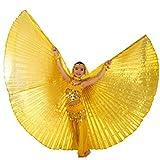 Tanzbekleidung & Accessories ISIS Wings alas Velo para niños Danza del Vientre Belly Dance Disfraz Samba Danza de Carnaval, Dorado
