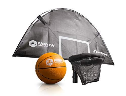 North Trampoline Basketballkorb, Trampolin-Zubehör für Spaβ und Spiel, Ballspielen auf dem Trampolin (Modell 2019)
