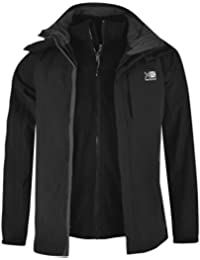 Karrimor Mens 3in1 Jacket Mesh Lining Concealable Hood Water Resistant