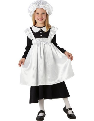 Victorian Maid - Kinder Kostüm - Small - - School Victorian Day Kostüm
