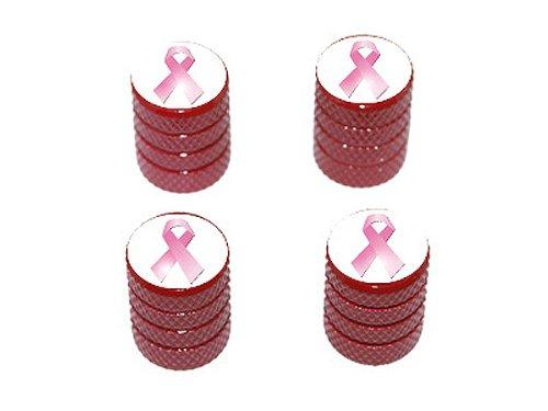 �–Reifen Reifen Ventilkappen Felgen Valve Stem Endkappen–Rot Farbe (Brustkrebs-farbe)