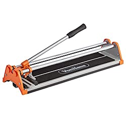 VonHaus Manual Tile Cutter 430mm - Tungsten Carbide Scoring Wheel - Straight Edge Accurate Measurement Guide - Cuts Ceramic, Glazed Floor & Wall Tiles