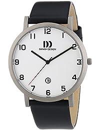 Danish Design  - Reloj de cuarzo para hombre, correa de cuero color negro