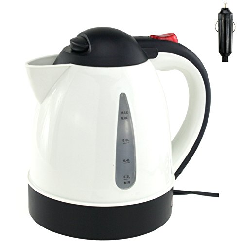 Preisvergleich Produktbild Wasserkocher 24 Volt Teekocher Kaffeekocher Campingkocher Wohnmobil Camping inklusive Zigarettenanzünder Stecker Auto PKW LKW