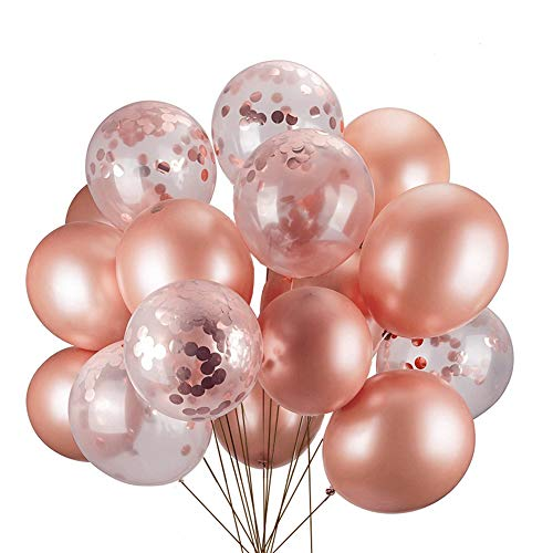 JYOHEY Konfetti Luftballons Rosé...