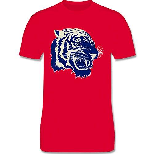 Wildnis - Tigerkopf - Herren Premium T-Shirt Rot