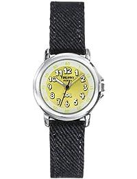 Trendy Kiddy - KL 305 - Montre Mixte - Quartz Analogique - Cadran Vert - Bracelet Tissu Noir