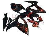 LoveMoto Verkleidung für GSX-R600 GSX-R750 K6 2006 2007 06 07 GSXR 600 750 ABS Spritzguss Kunststoff-Motorradverkleidung-Sets Schwarz Orange