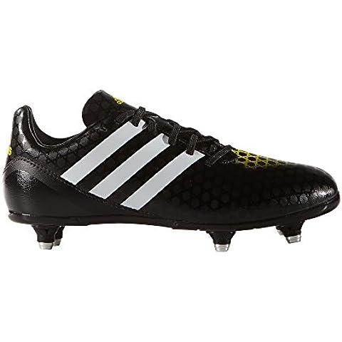 Adidas Junior Incurza SG II botas de Rugby amarillo brillante y núcleo negro, color , tamaño talla