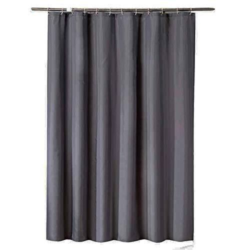 uschvorhang Anti Schimmel, Grau Badewanne Vorhang 220x200CM, Antibakteriell Wasserdicht mit Kunststoff Ringe Kein Rost ()