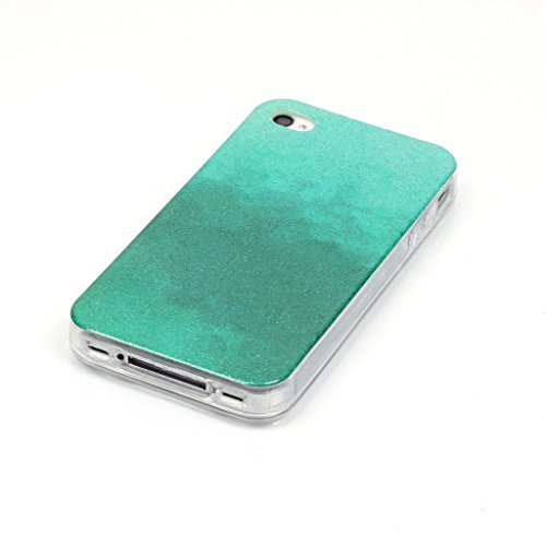 Uming® Retro bunte Muster Druck weiche TPU Fall Abdeckung Hülle Case Cover ( Gradient (Gold) - für IPhone 5C IPhone5C ) Silicone Silikon Shell Schutz Handy-Fall Cellphone Case Gradient (light green)