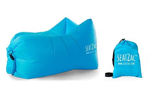 SeatZac Sitzsack, Stoff, Blau, 40 x 18 x 12 cm