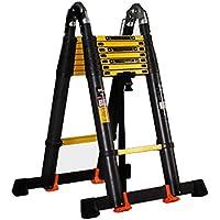 Escalera, pliegue telescópico Loft EN131 Aluminio Ligero Profesional Herringbone Mantenimiento 8.2m Carga 150 kg