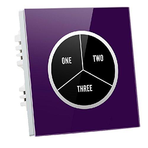 Preisvergleich Produktbild Wallpad C9 Individuelle Symbol 3 Gang 1 Weg,  Violett Wandleuchte Glas Panel Touch-Sensor Schalter,  kratzfest,  Sensitive