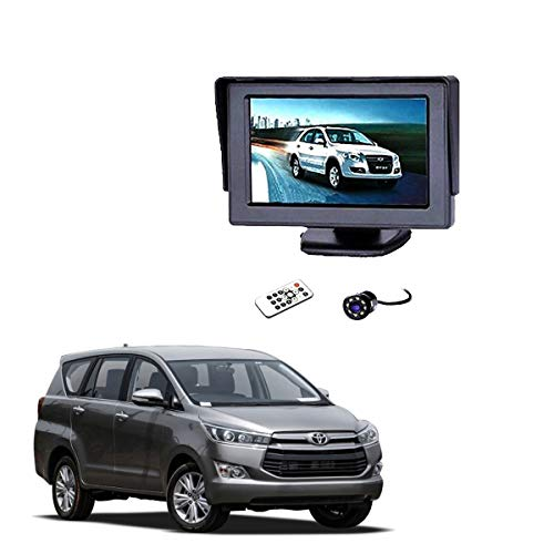 Autokraftz 4.3 Inch Car Rear View Kit and Tft LCD Monitor with Car Reversing Camera for Toyota Innova Crysta (Combo...