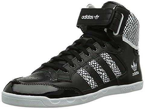 adidas Originals Centenia Hi, Damen Hohe Sneakers, Schwarz (Core Black/White/Core Black), 43 1/3 EU (9
