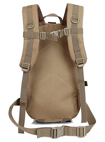 Alpinismo Outdoor sacco 30L maschio e femmina camuffamento impermeabile ride double borsa a tracolla 44*24*11cm, deserto digital 20-35 litri Lupo Brown 20-35L