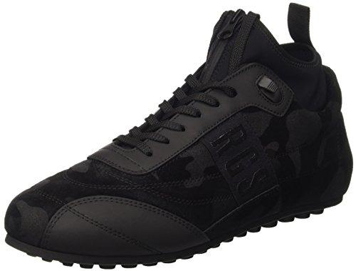 Bikkembergs Soccer 772 Shoe M Suede/Lycra, Scarpe Low-Top Uomo, Nero (Camouflage Black), 44 EU