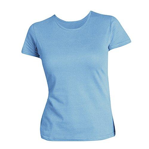 SOLS - Maglietta Maniche Corte 100% Cotone - Donna Azzurro cielo