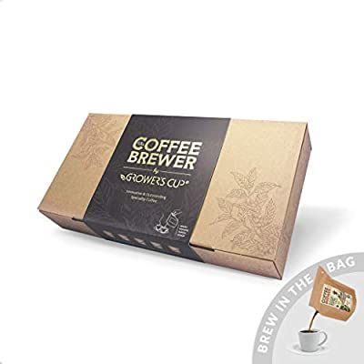 Grower's Cup Coffee-Brewer 10pcs Gift Box Assortment - Perfect Gift Item for The Coffee Lovers. All Our Coffees are Fairtrade and Hand-Roasted. by The Brew Company