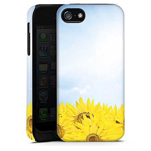 Apple iPhone X Silikon Hülle Case Schutzhülle Sonnenblumen Himmel Sonne Tough Case matt