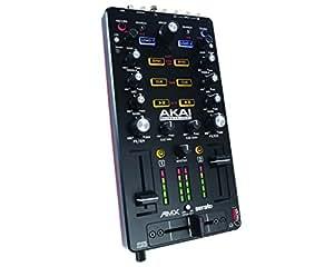 AKAI Professional AMX Ultra Portabler USB getriebener DVS aktivierter 2 Deck Mix Controller inklusive Serato DJ