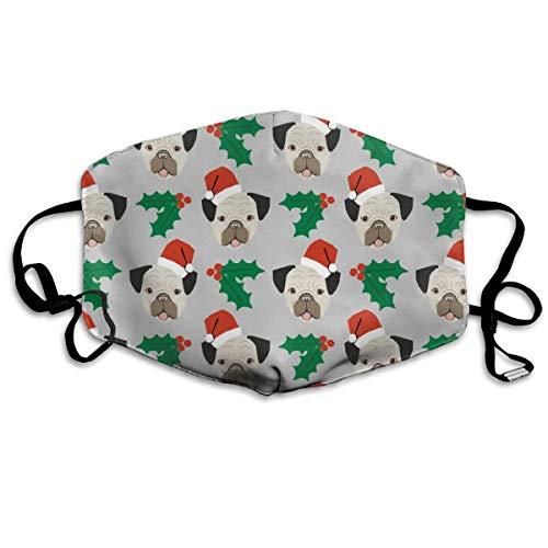 Bentonit-ton Reinigung (Mops Hund Weihnachten Santa Paws Cute Christmas Design Anti Dust Mask Anti Pollution Waschbar Wiederverwendbare Mundmasken)