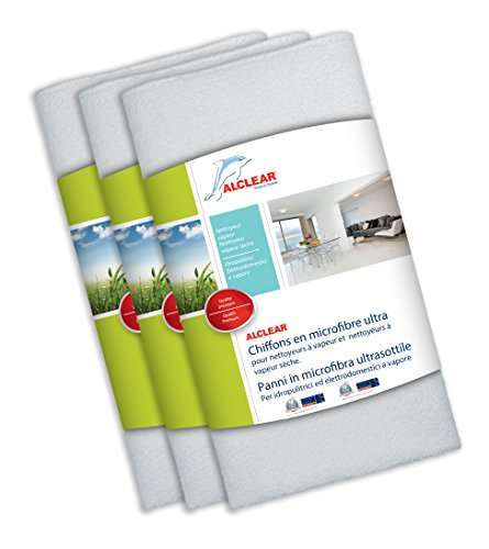 ALCLEAR 955040_ 3Gamuza de Microfibra Ultra, Color Blanco, 50x 40cm, Set de 3 - Best Price