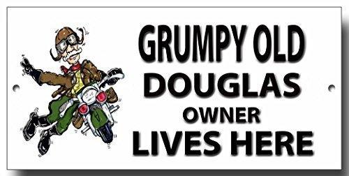 "Grumpy Old Douglas Eigentümer Lives Here "", Metall"