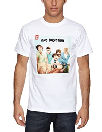 Official Licensed One Direction-Up All Night Men's T-Shirt White Large