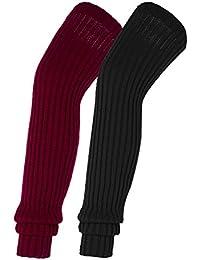 Urban GoCo Calcetines altos hasta la rodiila de punto para mujeres contra el frío del invierno