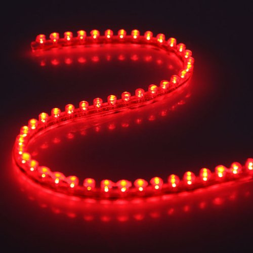 Preisvergleich Produktbild 2x 48 LED Streifen Stripe Lichtleiste für Auto Wasserdicht Rot auch geeignet für Aquarium / Garten 48cm