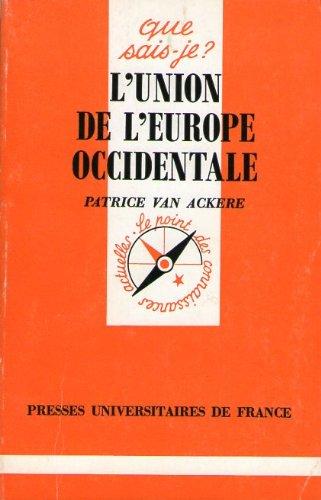 L'Union de l'Europe occidentale