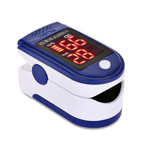 Finger Pulsoximeter, RosyXandy Handheld Portable Instant Read Digital Blut Sauerstoff und Puls Sensor Meter mit Alarm für Erwachsene Kinder Sport Gebrauch