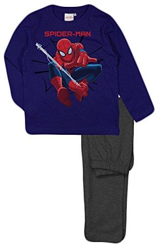 Marvel spider man kids long pigiama (2 anni, marina)
