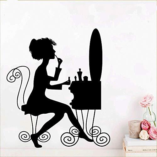 Schöne Laddy Removable Art Vinyl Wandaufkleber Für Wohnzimmer Schlafzimmer Dekor Tapete Dekoration Wandbilder Aufkleber Muraux lila XL 57 cm X 65 cm -